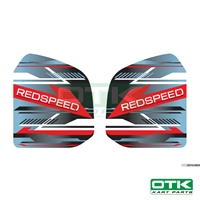Red Speed fuel tank stickers for 8,5L tank