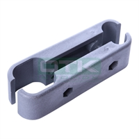 Bracket for front bumper, silver