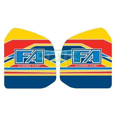 FA Kart fuel tank stickers for 8,5L tank