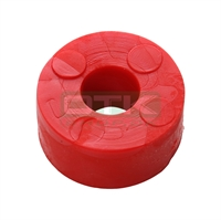 Rubber washer Ø27 Ø10 H14, red