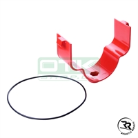 Support for NOX intake silencer, Plastic, red