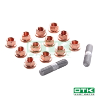 Wheel hexagonal self-locking nut set with Wheel stud