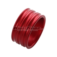Spacer for 25mm Stub axle, 15 mm, Red