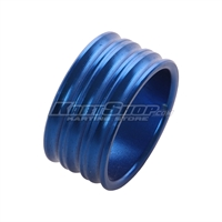 Spacer for 25mm Stub axle, 15 mm, Blue