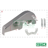 Complete integral chain guard kit