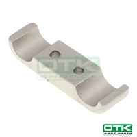 Engine mount bracket 2 screws, 92 x 28mm, Front, Aluminium