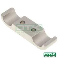 Engine mount bracket 2 screws, 92 x 30mm, Front , Aluminium