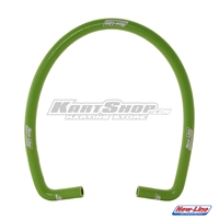 Silicon hose double bend 90´green, New Line