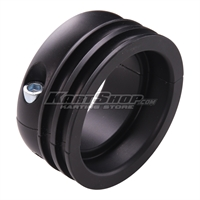 Aluminium Pulley for 50mm axle, Black anodized