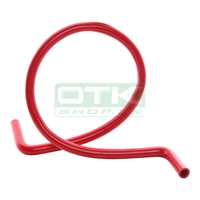Silicone water pipe, red, 90° L.120 cm