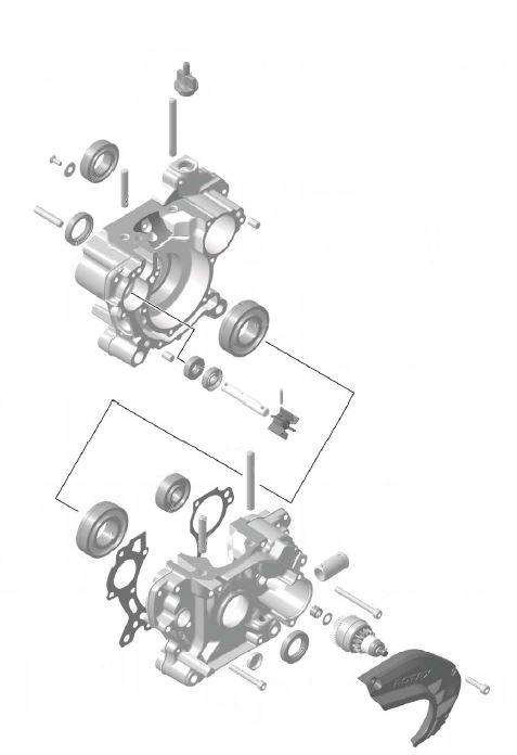 Rotax Max Crankshaft housing