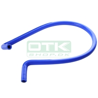 Silicone water pipe, blue, 90° L.120 cm