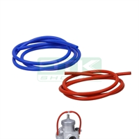 Silicone pipe for for overflow, blue, 1 Meter