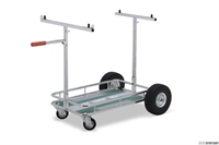 Kart trolley with Tonykart sticker, OTK, Chrome