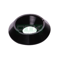 Counter sunk washer 18x6 mm, black